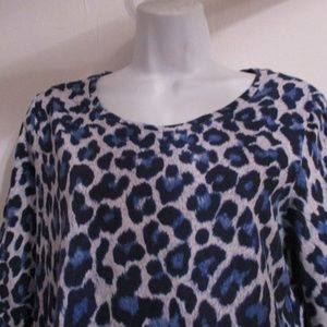 Chico's Blue Animal Print Top